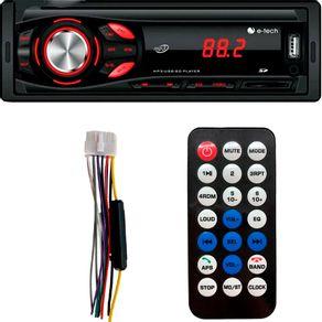Rádio Mp3 Bluetooth Usb Aux Sd Card 2 Saidas Rca Controle