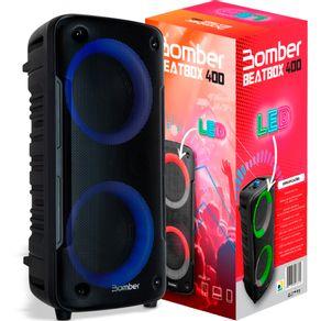 Caixa de Som Bluetooth Bomber Beatbox 400 Rgb Android Ios