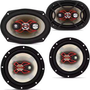 Kit Fácil Alto Falante 6x9 e 6 Pol 240rms Linha X Bravox